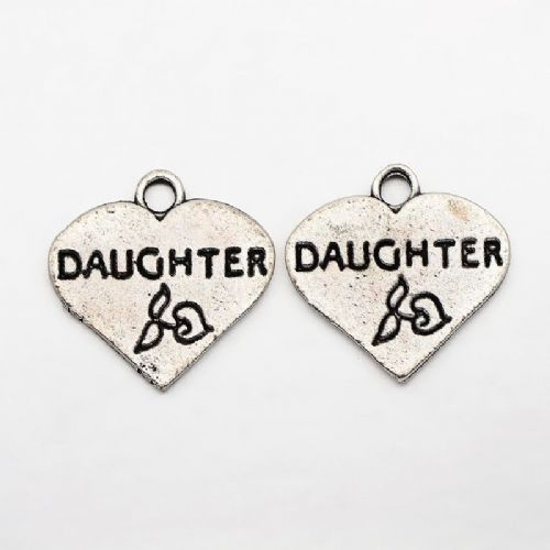 Daughter Heart Charms (4)